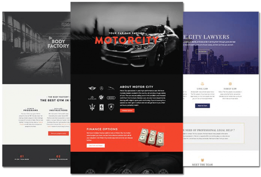 WSS Media landing pages