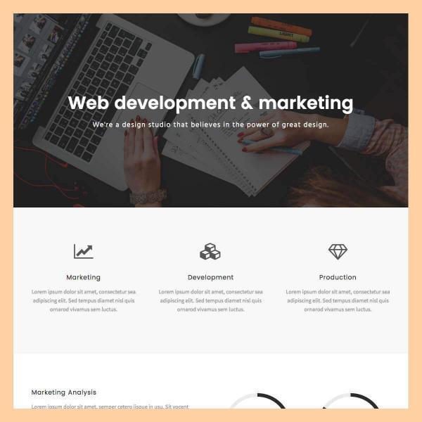 Web Agency Company Page