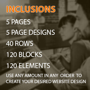 custom built categories standard 5 pages