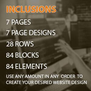 custom built categories special 7 pages